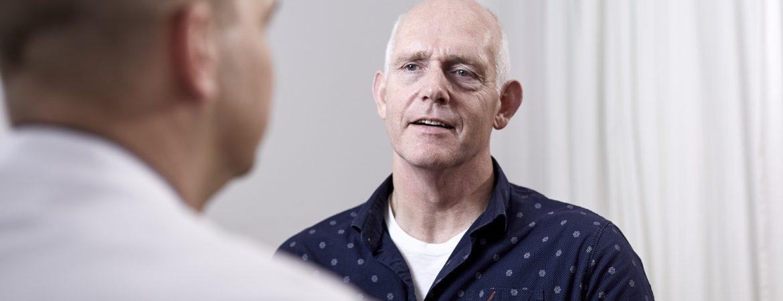 patiënt in gesprek met arts LUMC